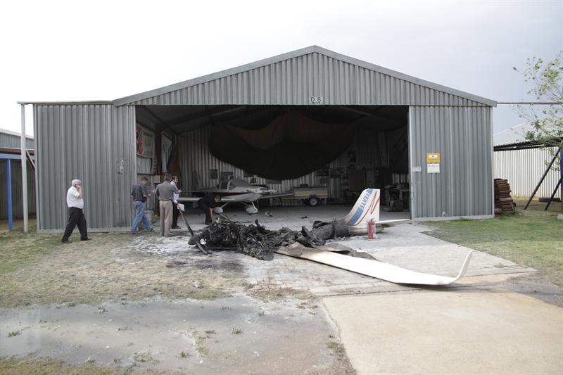 Plane Gutted By Fire At Tempe Airport Ofm