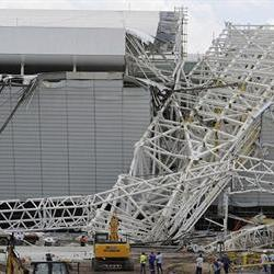Crane collapses at Brazil World Cup football stadium, killing three