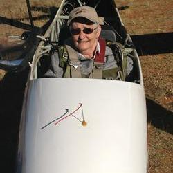 Bfn-Granny (82) takes off on glider flight