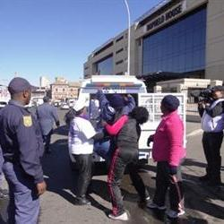 Community healthcare workers march to Bophelo House
