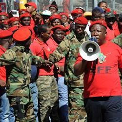 Teargas, rubber bullets fired to disperse EFF members at Gauteng legislature