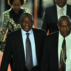 Ramaphosa arrives in Lesotho