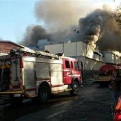 Brand by Big Brother-huis in JHB