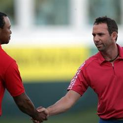 Tiger Woods and Garcia handshake could signal a ceasefire