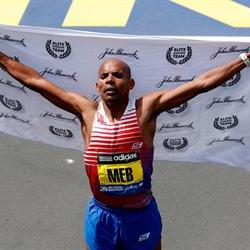 Keflizighi wins the Boston Marathon