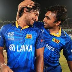 Sri Lanka give Sanga and Jayawa a prefect send-off
