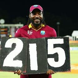 Gayle shatters records in the Zimbabwe win