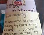 Annoyed office worker gets the ultimate revenge on food thief
