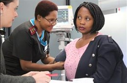 Heart and Stroke Awareness campaign: Mediclinic Bloemfontein and Pathcare testing blood pressure, glucose and cholestrol at Central Media Group