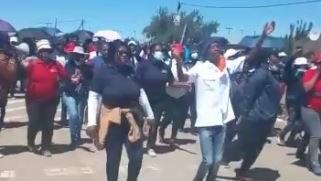 Pressure groups make their presence felt during Ramaphosa's visit   News Article