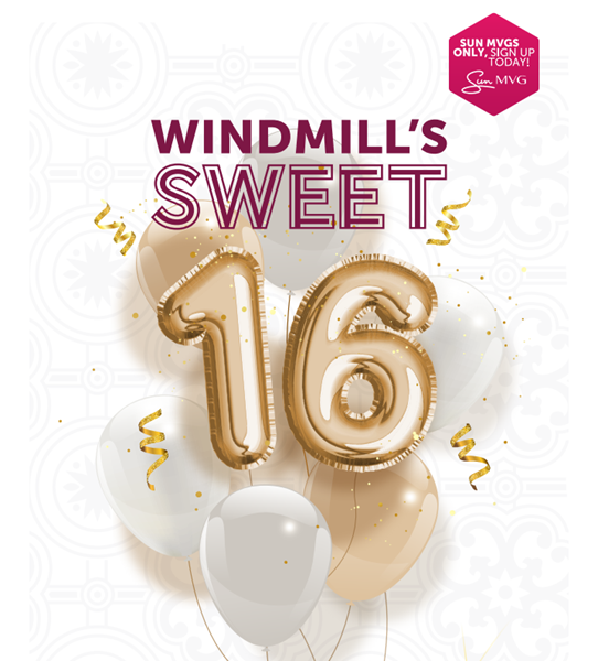Win with Sun Windmill's Sweet 16     News Article