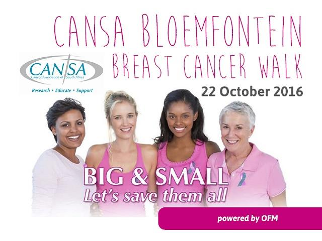 CANSA Bloemfontein Breast Cancer Walk 2016 powered by OFM