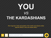 Saturday Express: How long does it take a Kardashian to earn your annual salary. | Blog Post