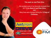 The Best Of Just Plain Drive 11 - 15 Dec 2017 | Blog Post