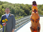 Bride in T-rex costume surprises groom | Blog Post