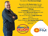 The Best Of The Afternoon Delight 13 - 17 March 2017  | Blog Post
