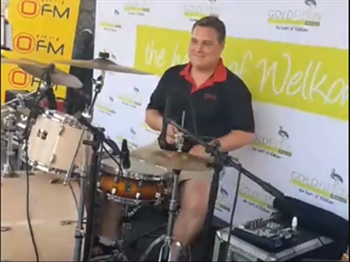 Saturday Express: WR Van Der Merwe join Shandor Potgieter on the drums at Goldfields Mall in Welkom. | Blog Post