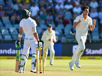 Cummins rocks the boat after Elgar gives Proteas strong start | News Article