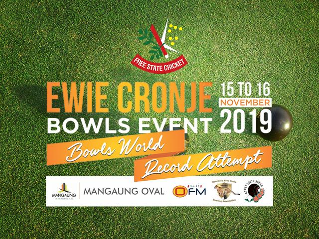 Ewie Cronje Bowls Record Attempt