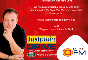 The Best Of Just Plain Drive 7 - 11 January 2019 | News Article