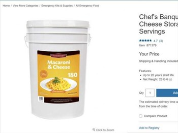 Saturday Express: An American chainstore is selling Mac & Cheese in 13KG Buckets.  | Blog Post