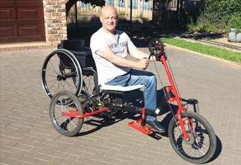 Three-in-one wheelchair made in Bloemfontein used for Camino | News Article