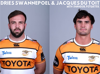 Dries and Jacques from the Toyota Cheetahs on Shandor's Wild Weekend  | Blog Post