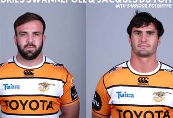 Dries and Jacques from the Toyota Cheetahs on Shandor's Wild Weekend  | News Article