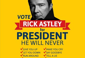 OFM wants Rick Astley for President! | News Article