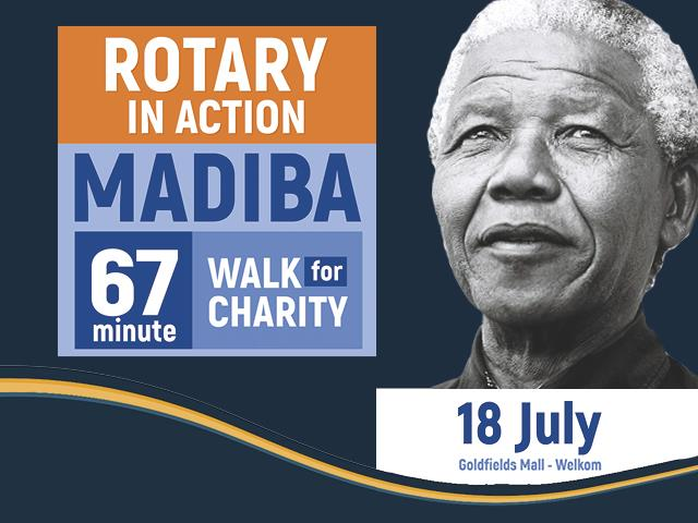 Madiba 67 minute walk for Charity