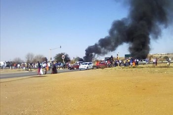 Protest action reported in Klerksdorp   News Article