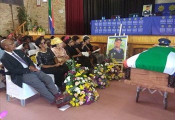 Funeral of slain FS policeman underway   News Article