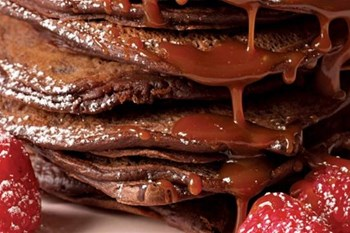 Your Weekend Breakfast Recipe - Double Chocolate Pancakes with Salted Caramel Sauce | Blog Post