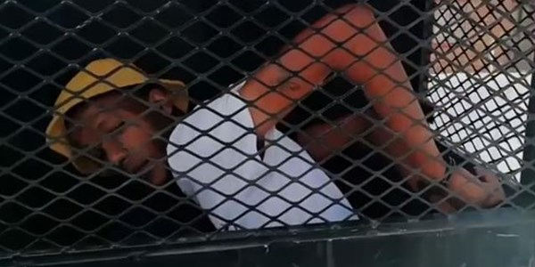 #Exclusive #BreakingNews: FS suspect detained in dog cage - VIDEO | News Article