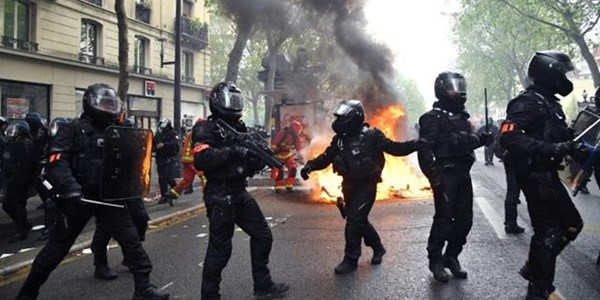Scuffles, arrests in Paris as thousands mark #MayDay   News Article