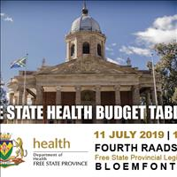 Free State Health Budget Tabling