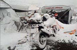 Snow falls in eastern Free State, Lesotho: November 2017