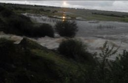 Dams in Ottosdal, NW overflowing