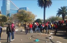 Samwu strike in Mangaung
