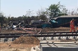 Reconstruction underway at #ShosholozaTrainAccident scene