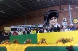 #WinnieMandela memorial service in Brandfort
