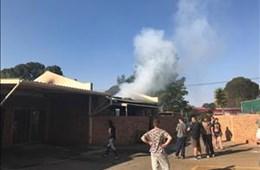 Three elderly persons survive blaze at townhouse