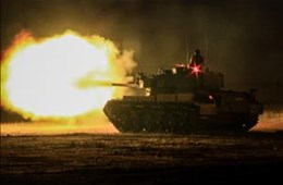 1 SA Tank Regiment Night Shooting
