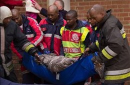 Woman treated after Bfn fire