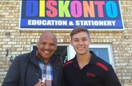 #OFMStreetSquad @ Diskonto Education and Stationery Suppliers Kimberley Operning