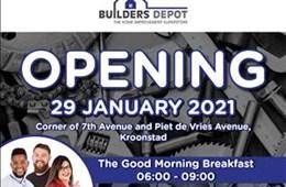 Builder Depot Kroonstad 29 January 2021